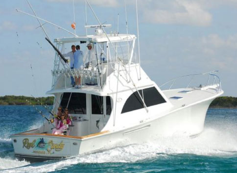 "The ""Reel Candy"" a newly renovated luxury 47' sport fishing yacht located at ..."