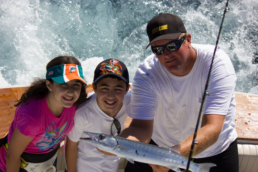 The Kids Love Our Half Day fishing Charters Too!