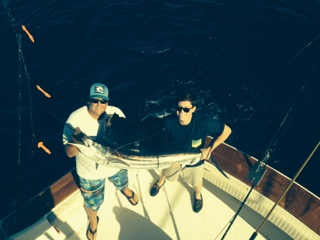 David Wolfson's first sailfish